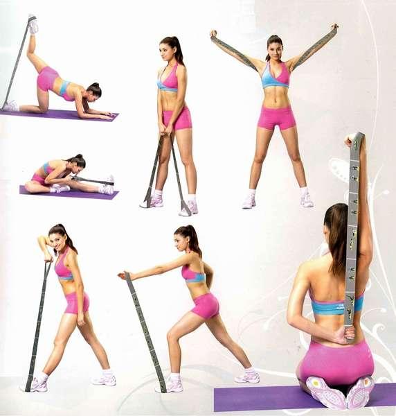 упражнения с фитнес лентой