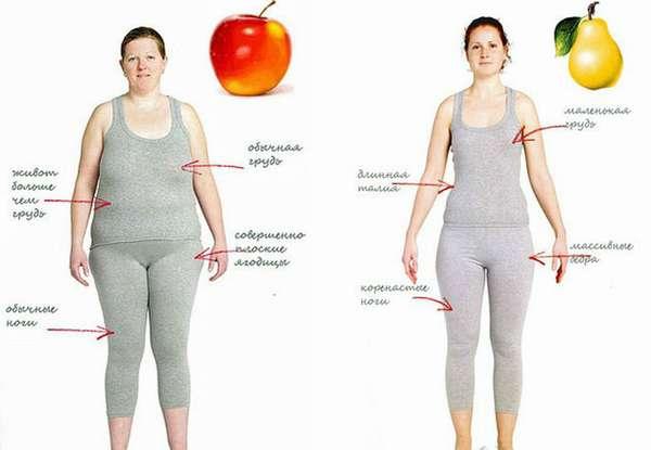 Женщин с телосложением типа яблоко