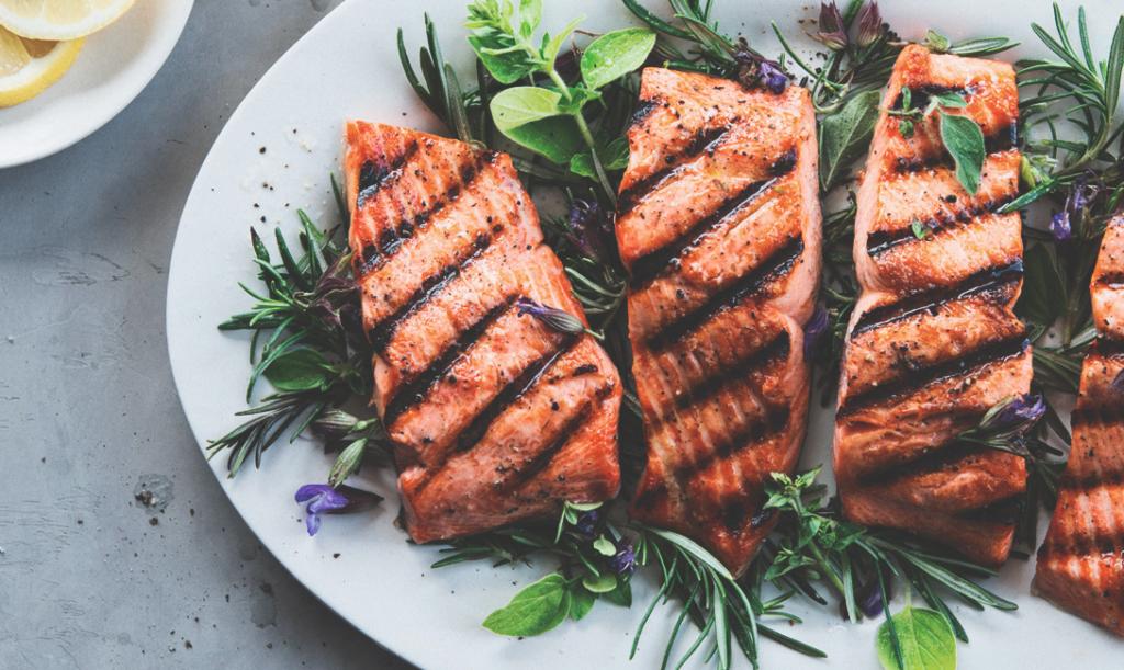 Рыбный стейк без масла