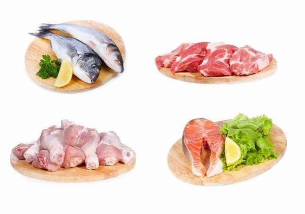 Мясо птицы и рыба