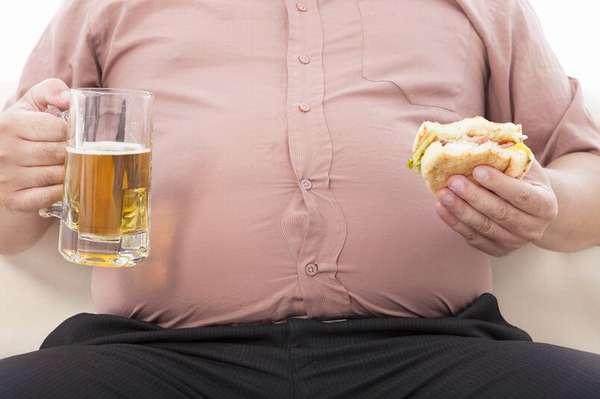Употребления алкоголя приводит к ожирению