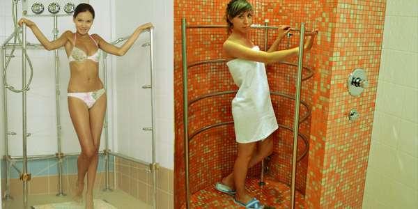 циркулярный душ девушки