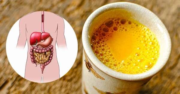 Очищение организма напитком с куркумой