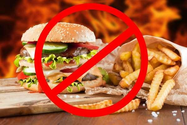 Откажитесь от вредной еды