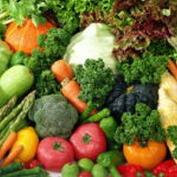 Свежие некрахмалистые овощи
