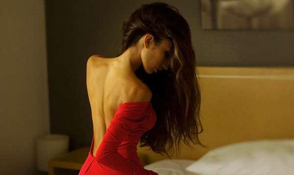 девушка спина