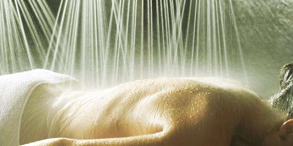душ виши по спине