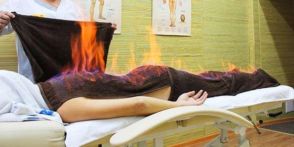 огненный массаж тела
