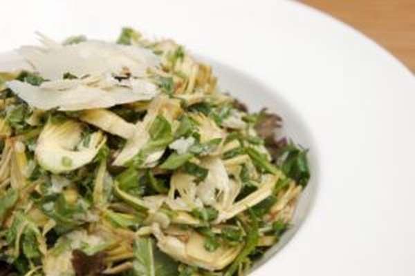 Диетический салатик с добавлением топинамбура