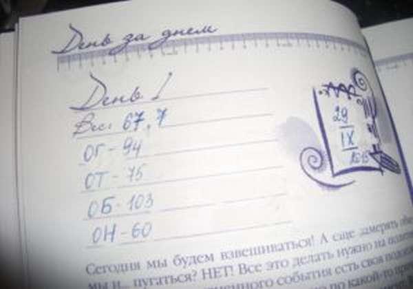 Дневник худеющей