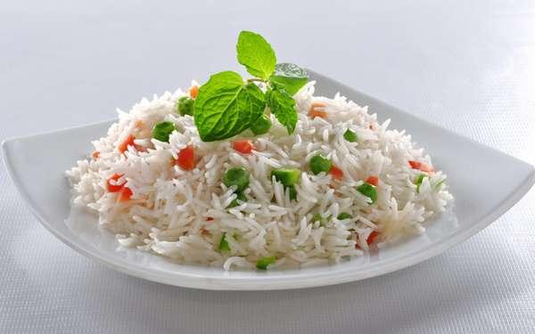 с чем рис есть