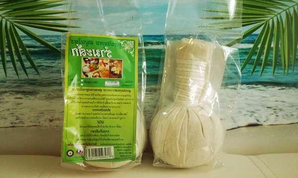травяной мешочек в упаковке