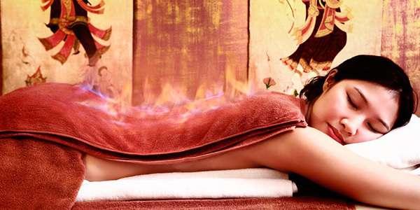 женщина огненный массаж