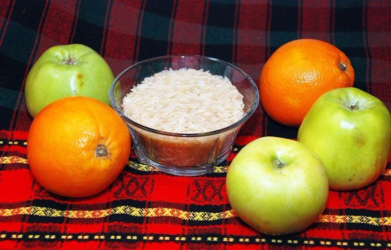 Яблочная и рисовая диета