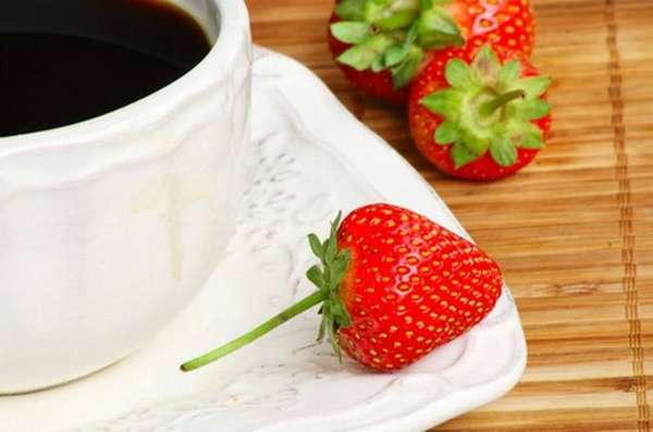 Клубника с кофе