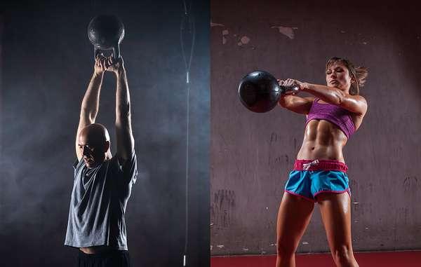 основные упражнения с гирей