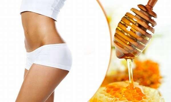 Антицеллюлитный самомассаж живота с медом