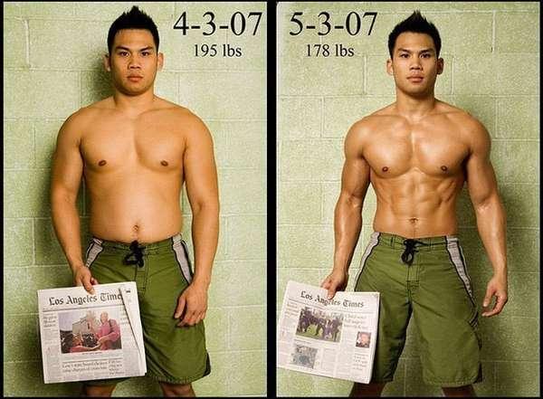 трансформация после сушки тела