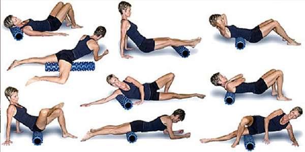 массажный валик упражнения