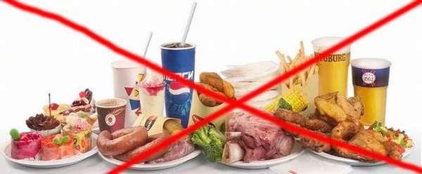 Исключить из рациона вредную пищу