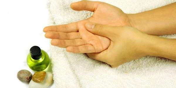 Массаж пальцев при онемении