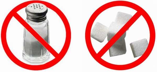 Соль и сахар под запретом
