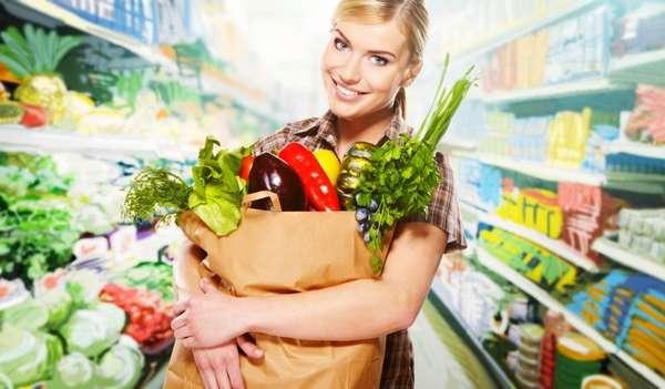 Достаточное количество овощей и фруктов