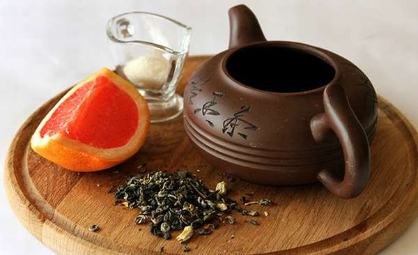 Грейпфрут и зеленый чай