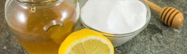 Смесь мёда, соды и лимона
