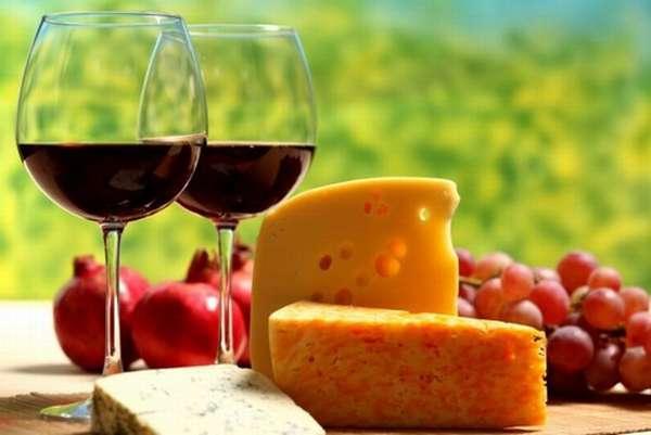 Диета на вине и сыре