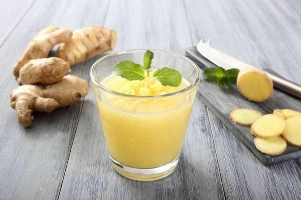 Полезный напиток из имбиря и полыни