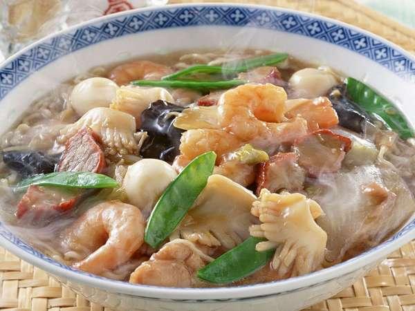 Густой супчик с морепродуктами