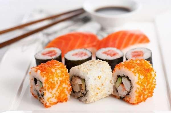 Суши и роллы во время диеты