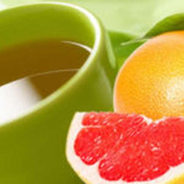 зеленый чай с грейпфрутом