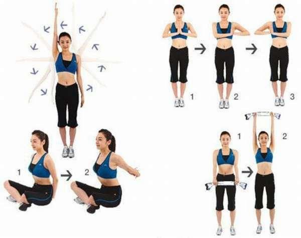 Упражнения для уменьшения размеров груди