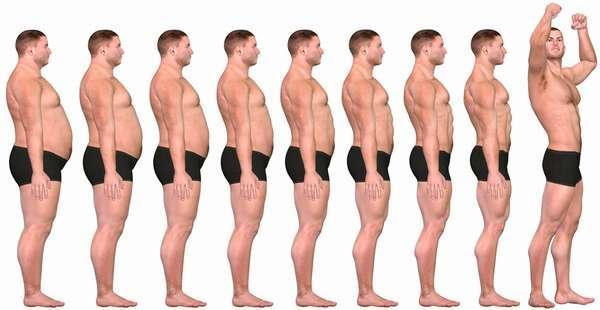 Как худеют иужчины