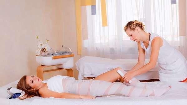 Обертывание ног и талии