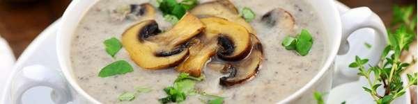 Крем-суп из грибов с сельдереем