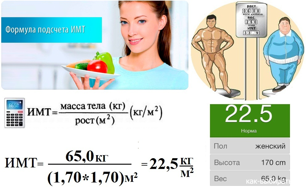 Калькулятор рост вес для похудения