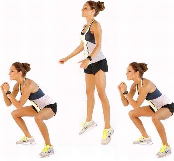 Выпрыгивания вверх для икроножных мышц и похудения