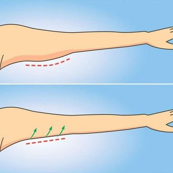 Упражнение для подтягивания кожи